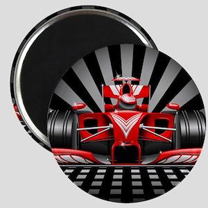 Formula 1 Red Race Car Magnets