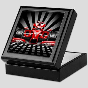 Formula 1 Red Race Car Keepsake Box