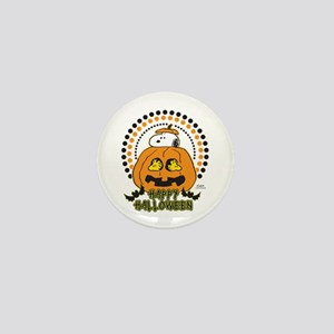Snoopy and Woodstock Pumpkin Mini Button