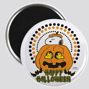 Snoopy and Woodstock Pumpkin Magnet