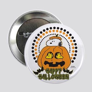 "Snoopy and Woodstock Pumpkin 2.25"" Button"