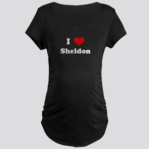 I Love Sheldon Maternity Dark T-Shirt