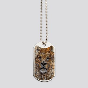 Lion mosaic 001 Dog Tags