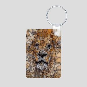 Lion mosaic 001 Keychains