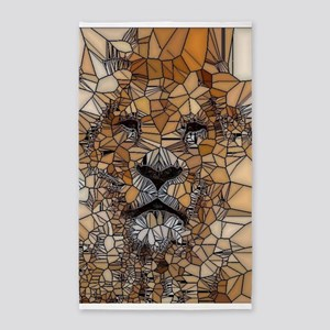 Lion mosaic 001 3'x5' Area Rug