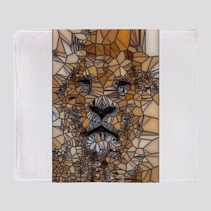 Lion mosaic 001 Throw Blanket
