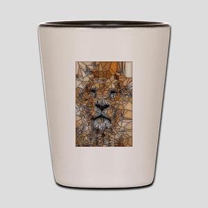 Lion mosaic 001 Shot Glass