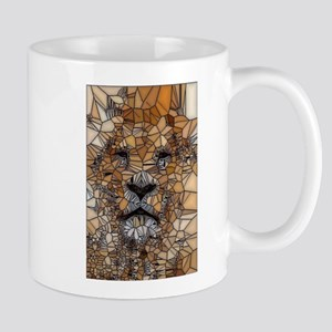 Lion mosaic 001 Mugs