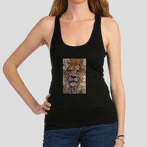 Lion mosaic 001 Racerback Tank Top