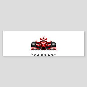 Formula 1 Red Race Car Bumper Sticker