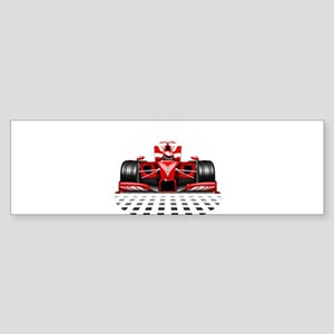 Formula 1 Red Race Car Bumper Sticker