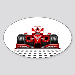 Formula 1 Red Race Car Sticker
