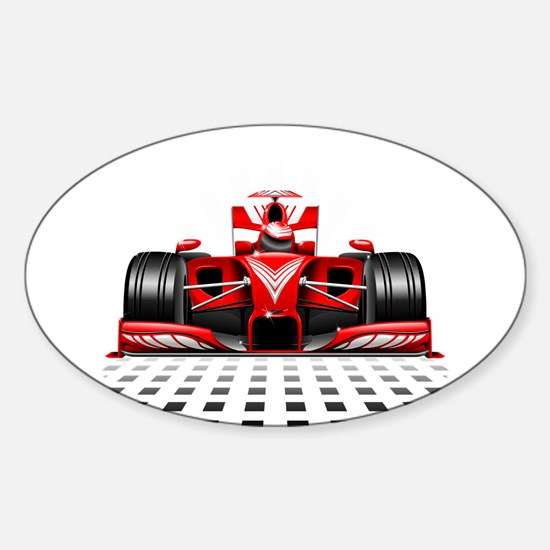 Formula 1 Red Race Car Decal