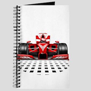 Formula 1 Red Race Car Journal