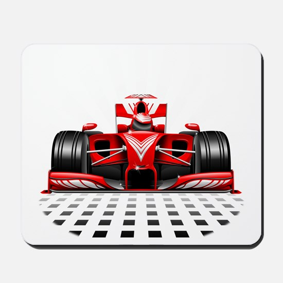 Formula 1 Red Race Car Mousepad