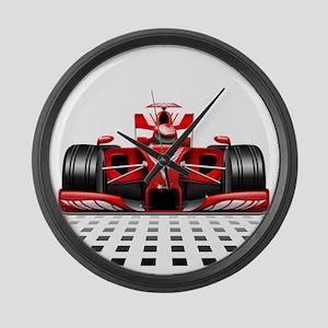 Formula 1 Red Race Car Large Wall Clock