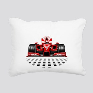 Formula 1 Red Race Car Rectangular Canvas Pillow