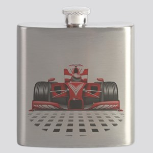 Formula 1 Red Race Car Flask