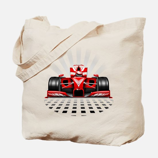 Formula 1 Red Race Car Tote Bag