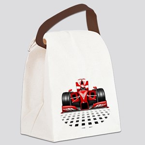Formula 1 Red Race Car Canvas Lunch Bag