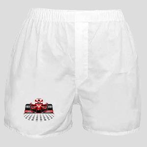 Formula 1 Red Race Car Boxer Shorts