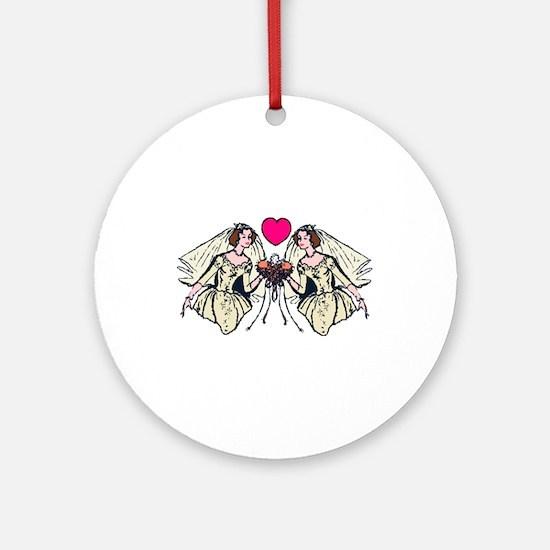 Civil Partnership 5 Ornament (Round)