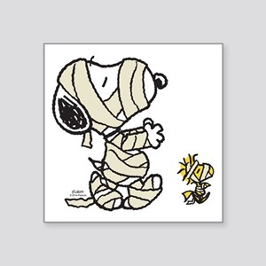"Mummy Snoopy Square Sticker 3"" x 3"""