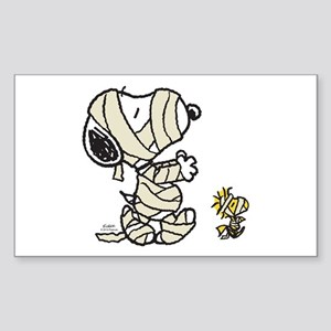 Mummy Snoopy Sticker (Rectangle)