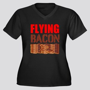 Flying Bacon Plus Size T-Shirt