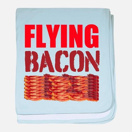 Flying Bacon baby blanket