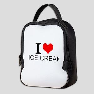 I Love Ice Cream Neoprene Lunch Bag