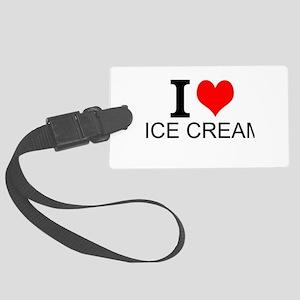 I Love Ice Cream Luggage Tag