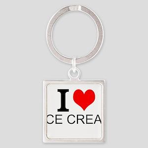 I Love Ice Cream Keychains