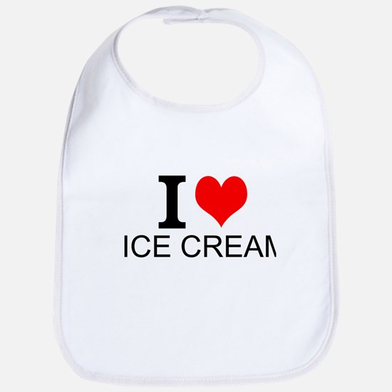 I Love Ice Cream Bib