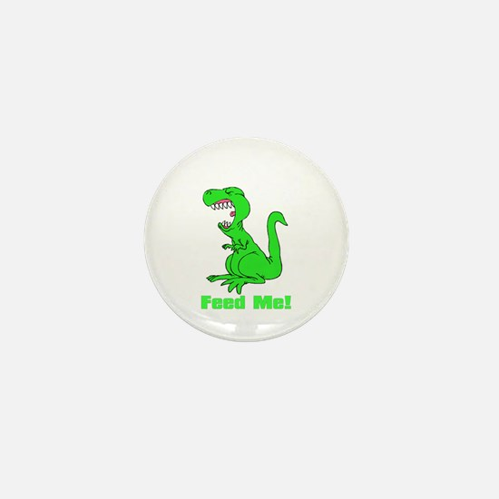 Hungry dinosaur Mini Button