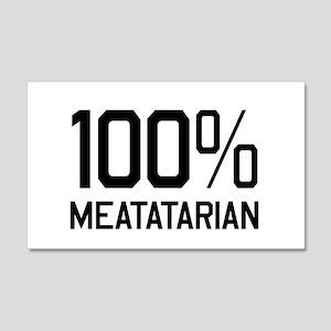 100% Meatatarian Wall Decal