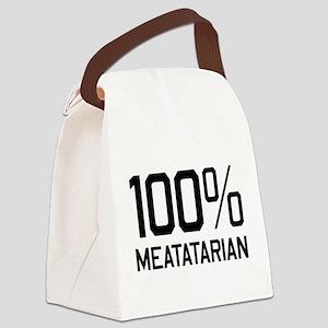 100% Meatatarian Canvas Lunch Bag