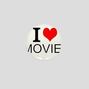 I Love Movies Mini Button