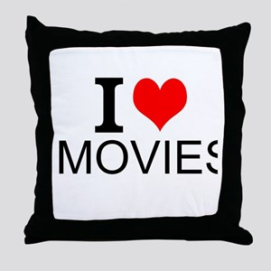 I Love Movies Throw Pillow