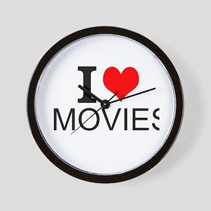 I Love Movies Wall Clock
