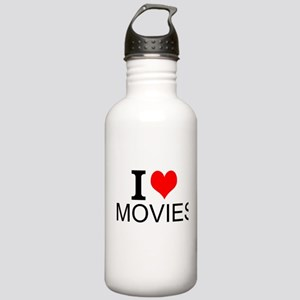 I Love Movies Water Bottle