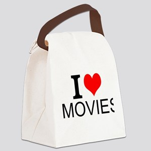 I Love Movies Canvas Lunch Bag