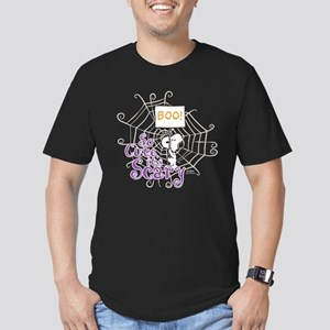 Snoopy: So Cute It's S Men's Fitted T-Shirt (dark)