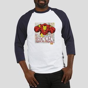 Iron Man Panels Baseball Jersey