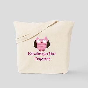 Pink Owl Kindergarten Teacher Tote Bag