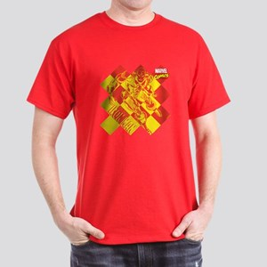 Iron Man Checkered Dark T-Shirt
