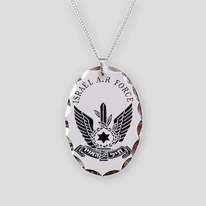 IAF Black Logo Necklace Oval Charm