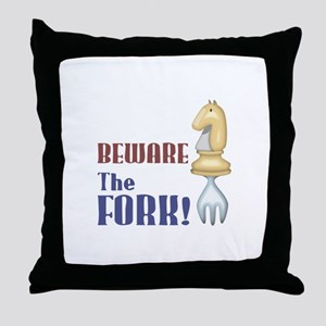 Chess: Beware of Knight Fork Throw Pillow