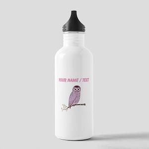 Custom Purple Owl Water Bottle