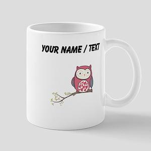 Custom Red Love Owl Mugs